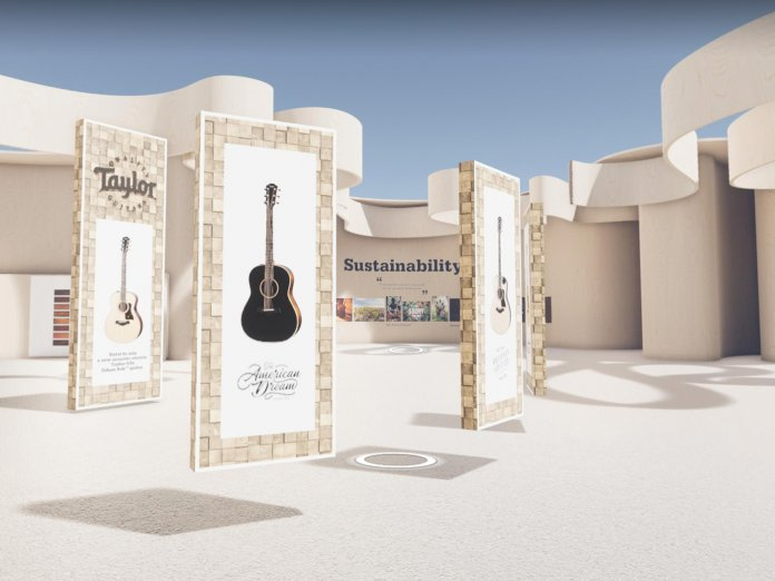 Taylor's Booth at Guitar.com Live