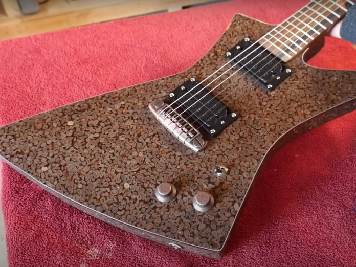 Burls Art Coffee Guitar