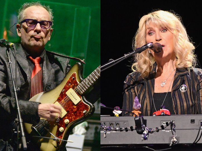 Elvis Costello and Christine McVie