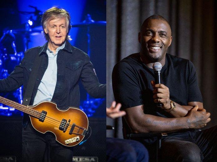 Paul McCartney and Idris Elba