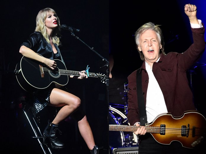 Taylor Swift and Paul McCartney