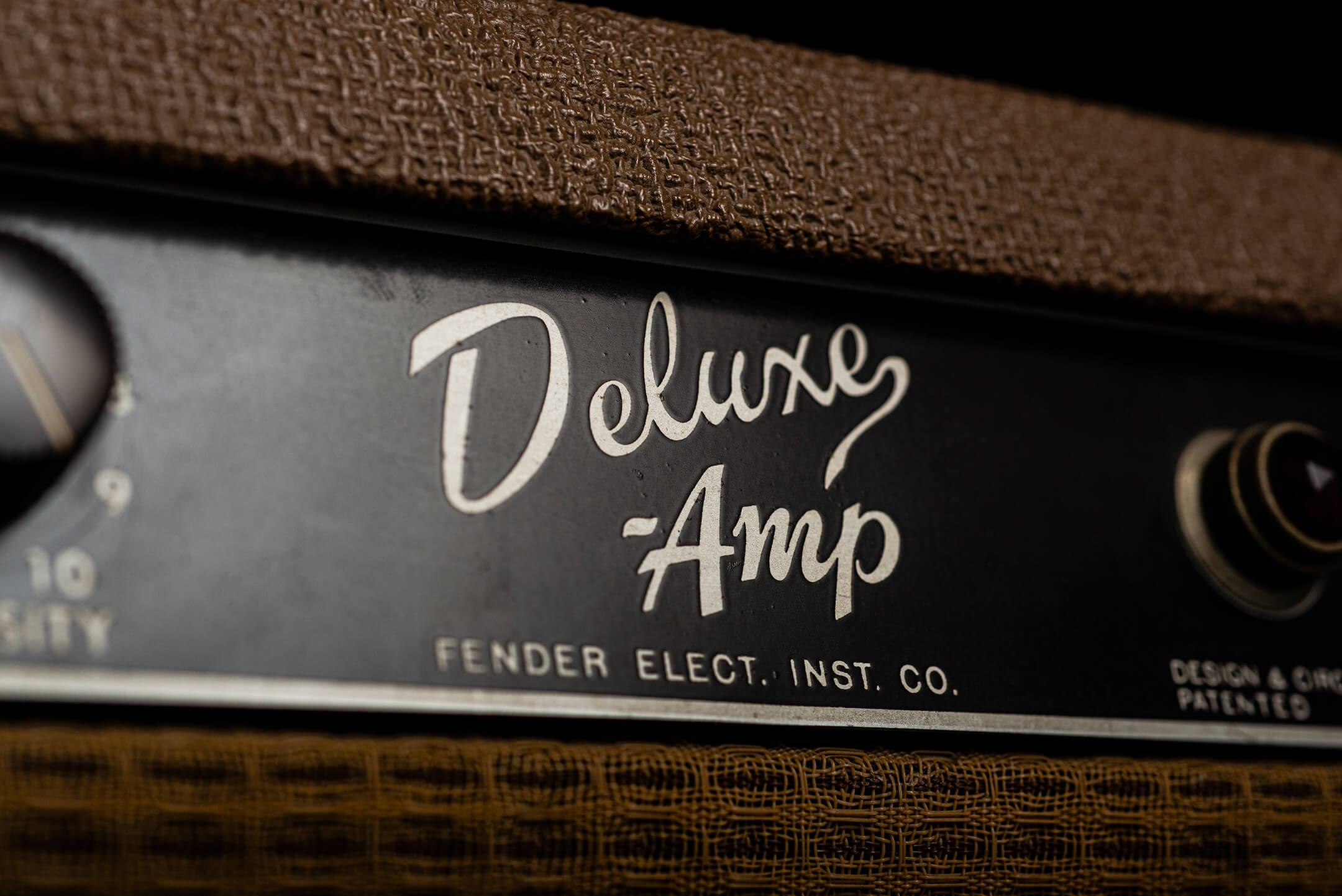 Vintage Bench Text Fender Deluxe Amplifier Shootout