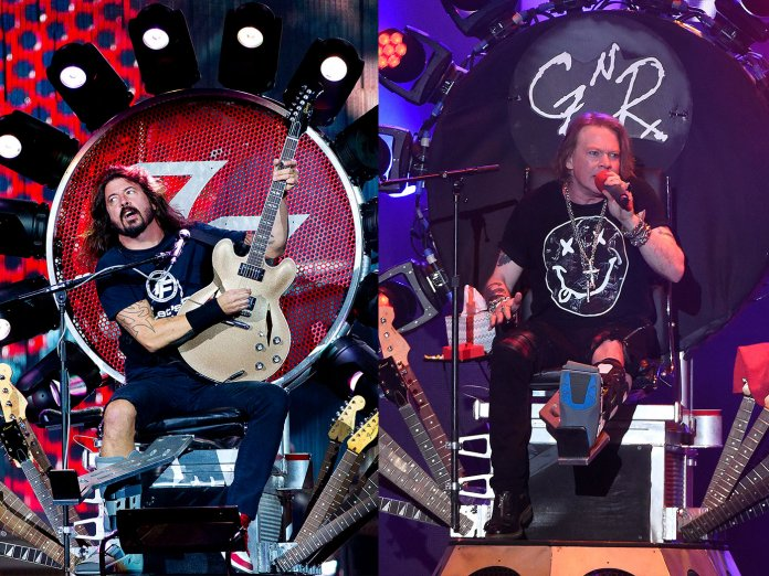 Dave Grohl and Axl Rose