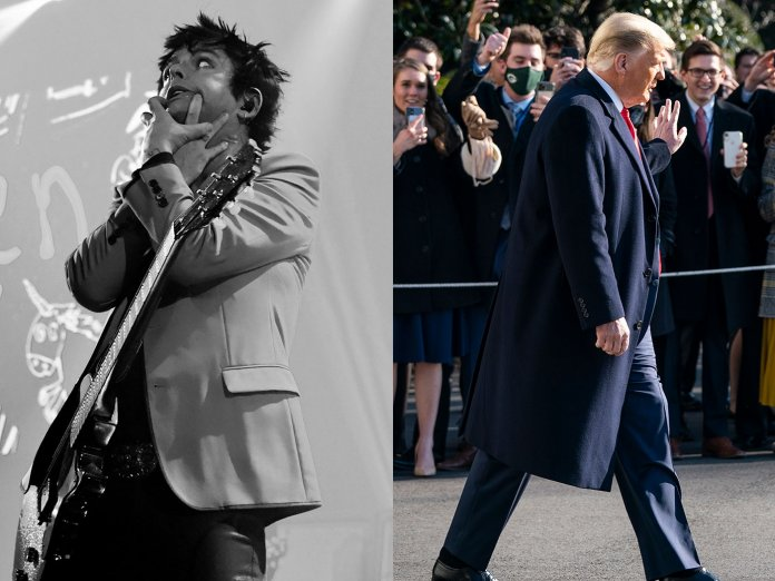 Billie Joe Armstrong and Donald Trump