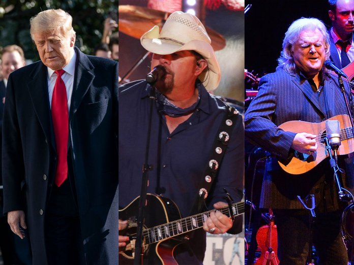 Donald Trump, Toby Keith and Ricky Skaggs