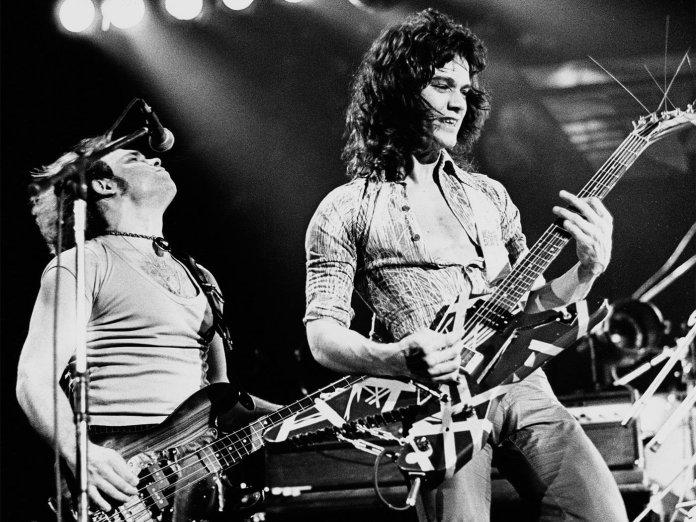 Michael Anthony and Eddie Van Halen
