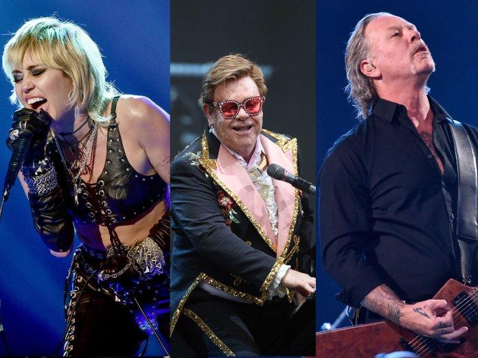 Miley Cyrus, Elton John, James Hetfield