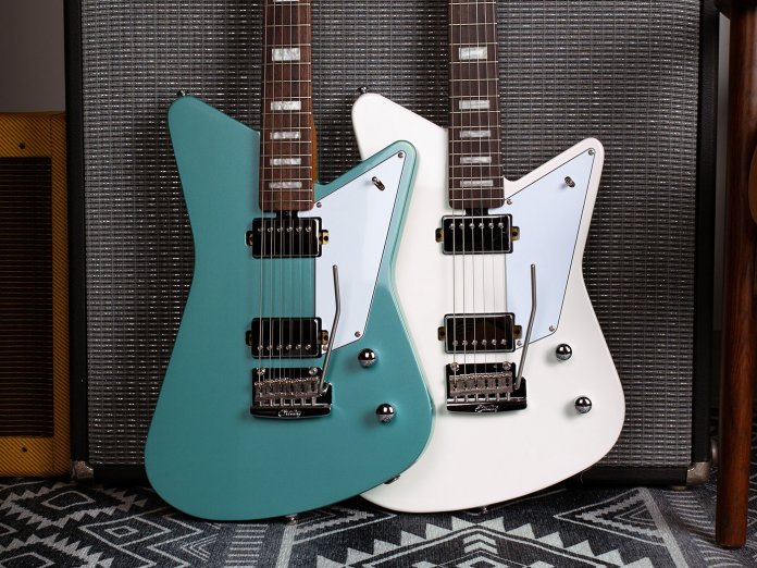 The Sterling By Music Man Mariposa's two finishes