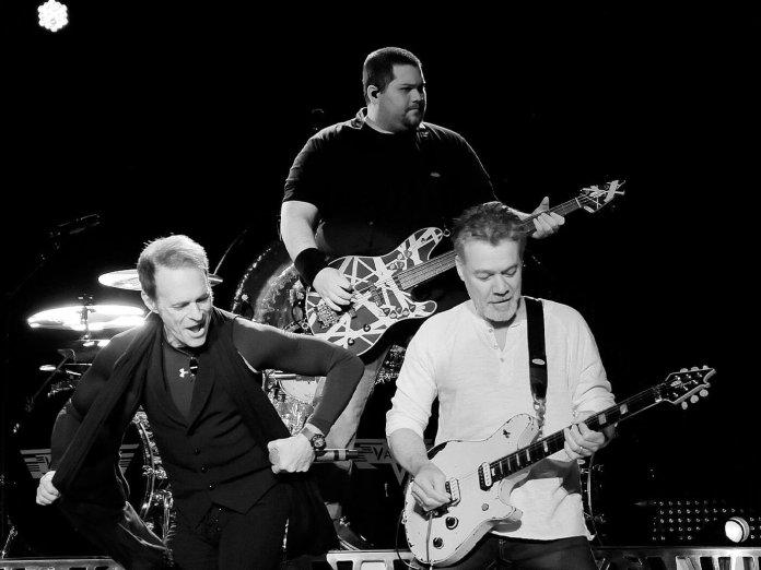 Wolfgang and Eddie Van Halen perform alongside David Lee Roth