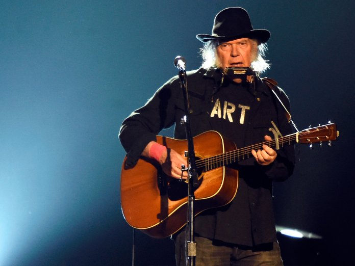 Neil Young onstage