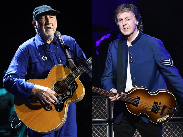 Pete Townshend and Paul McCartney