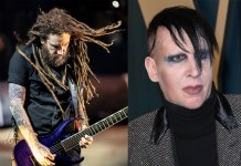 Brian Welch and Marilyn Manson