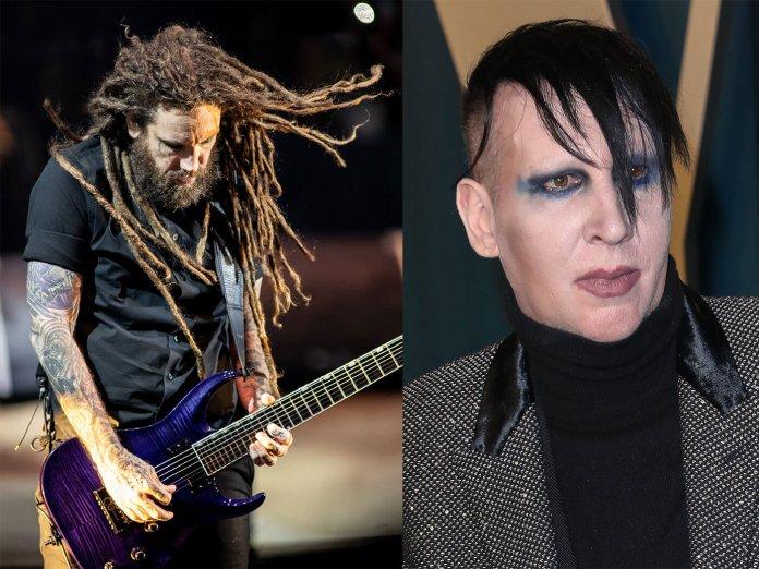 Brian Welch and Marilyn Manson
