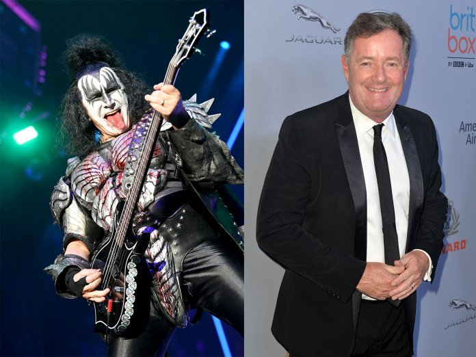 Gene Simmons (left) and Piers Morgan