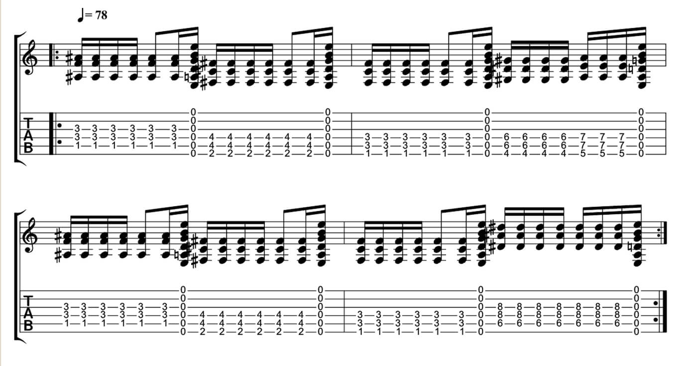 Five minutes to playing like Kurt Cobain - Open String Transitions