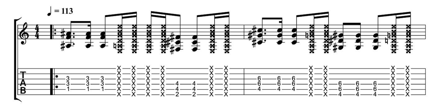 Five minutes to playing like Kurt Cobain - Percussive String Mutes