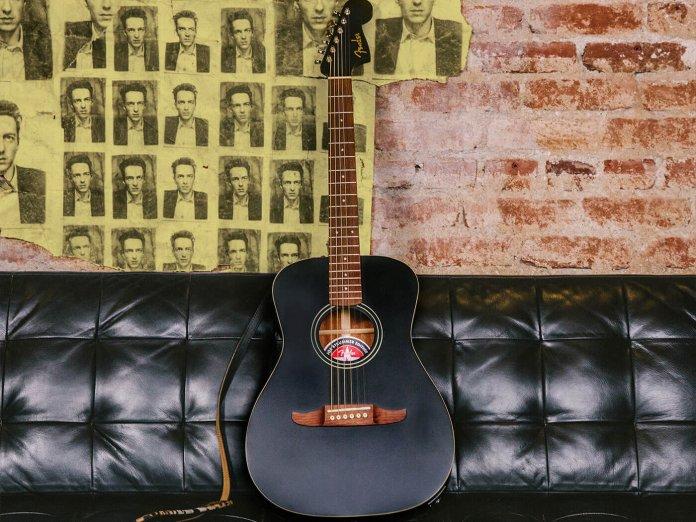 Joe Strummer campfire acoustic