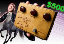 A normal photo of Tyler Larson and his new pedal
