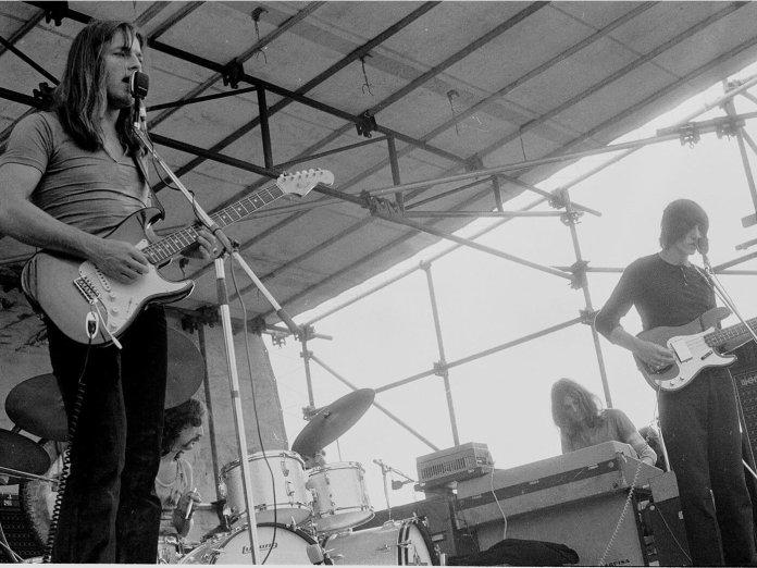 Pink Floyd performing in 1970