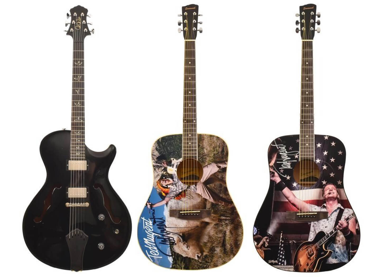 Some of Ted Nugent's guitars being auctioned
