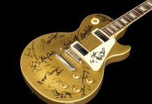 Gibson Les Paul Deluxe Goldtop Bob Dylan 30th Anniversay Concert