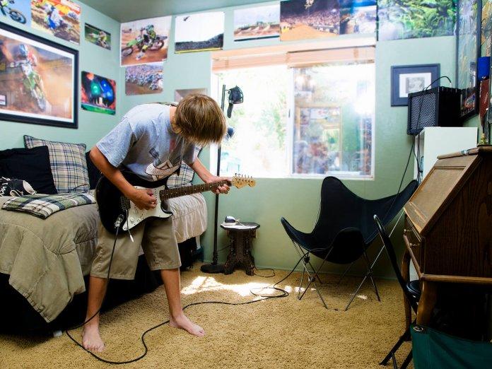 Bedroom Guitar Player