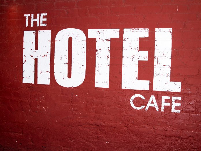 The Hotel Cafe sign