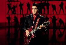 Elvis Presley onstage hagstrom viking ii