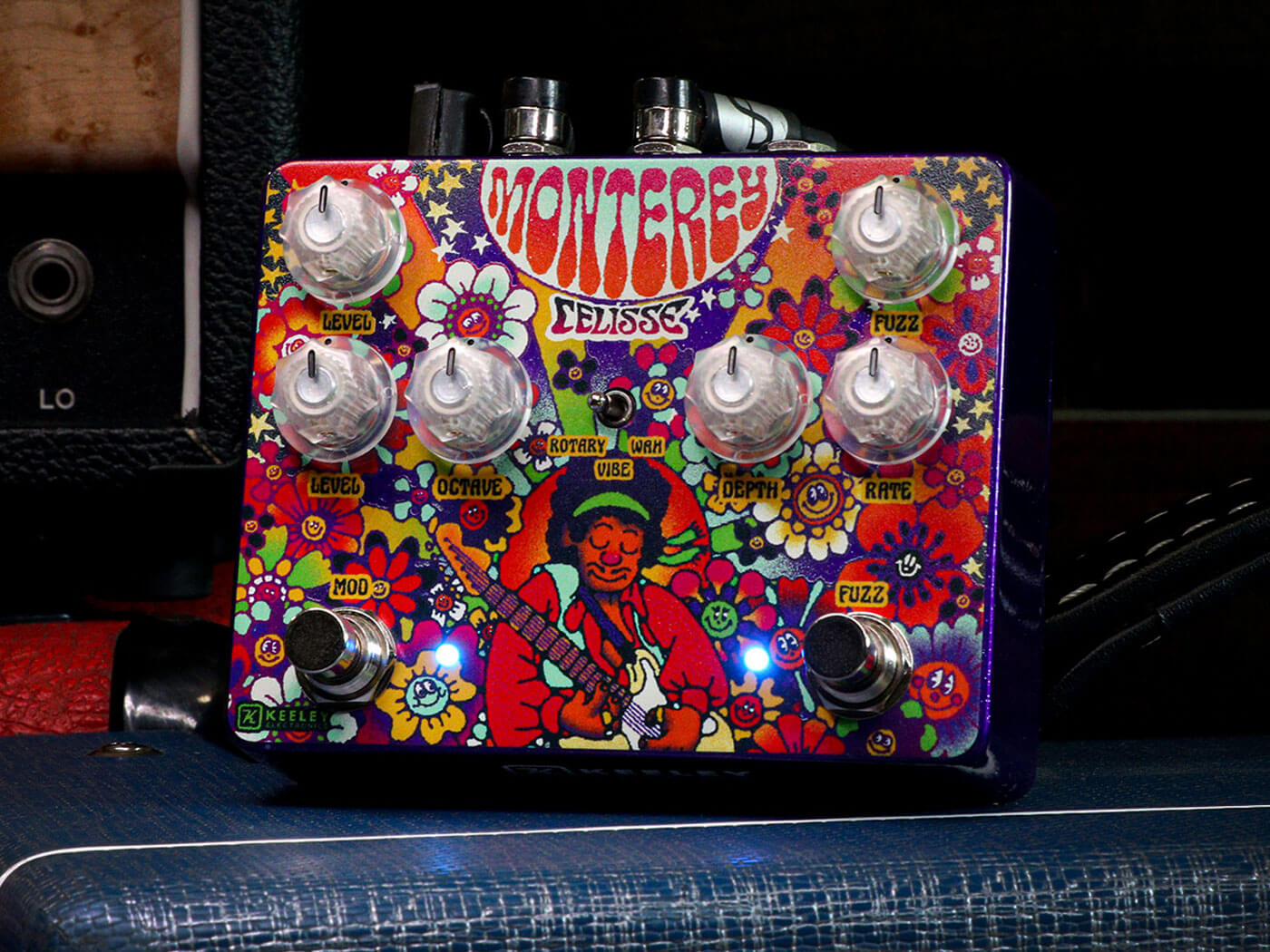 Keeley Electronics unveils the Celisse Artist edition of the Monterey rotary fuzz vibe