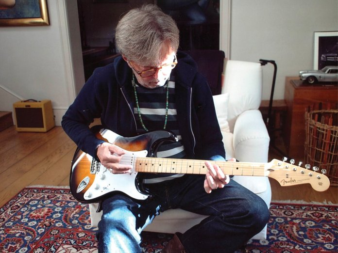Eric Clapton with his Fender Custom Shop Stratocaster
