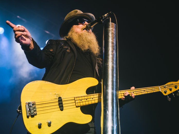 Dusty Hill onstage