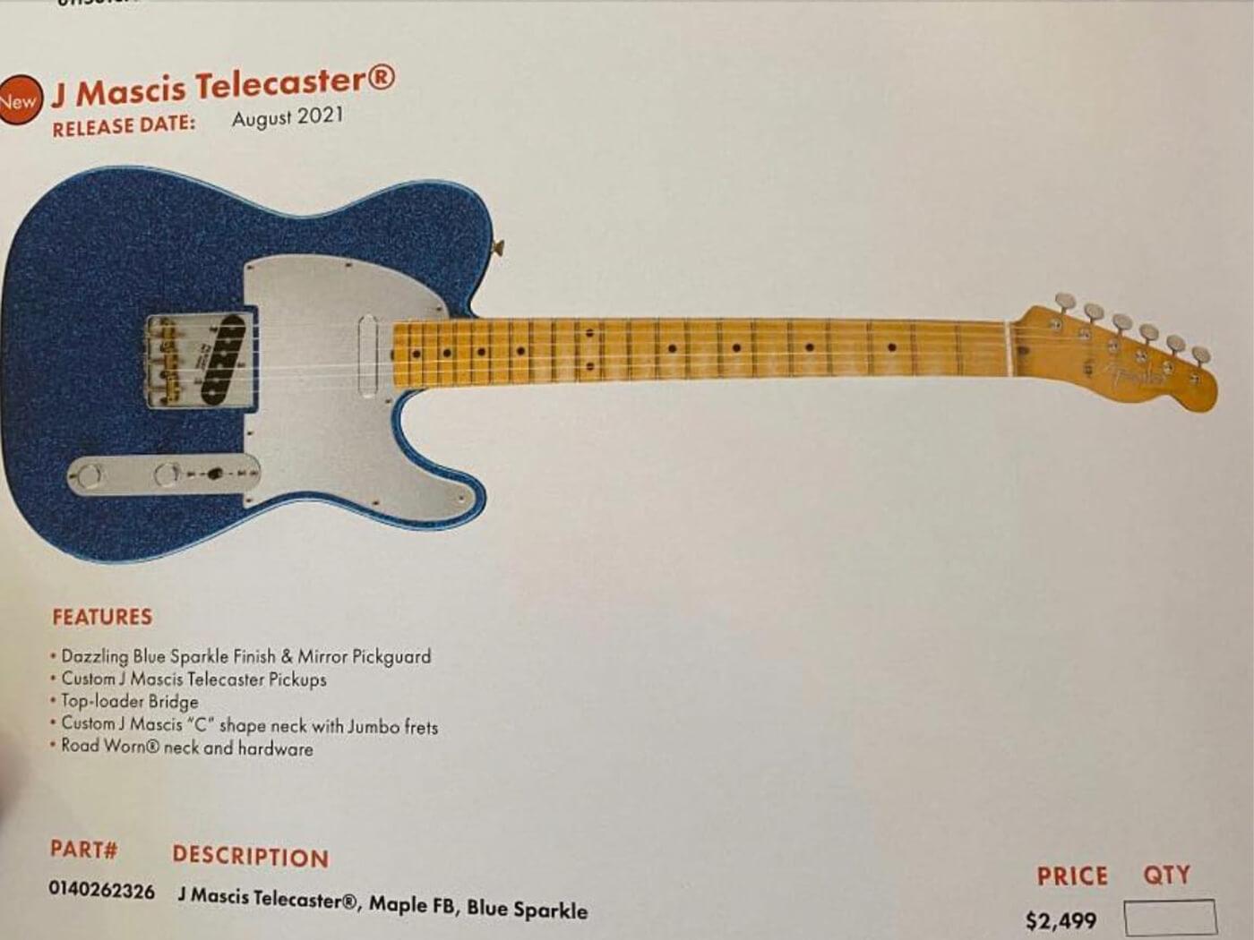 Fender J Mascis Telecaster Leak
