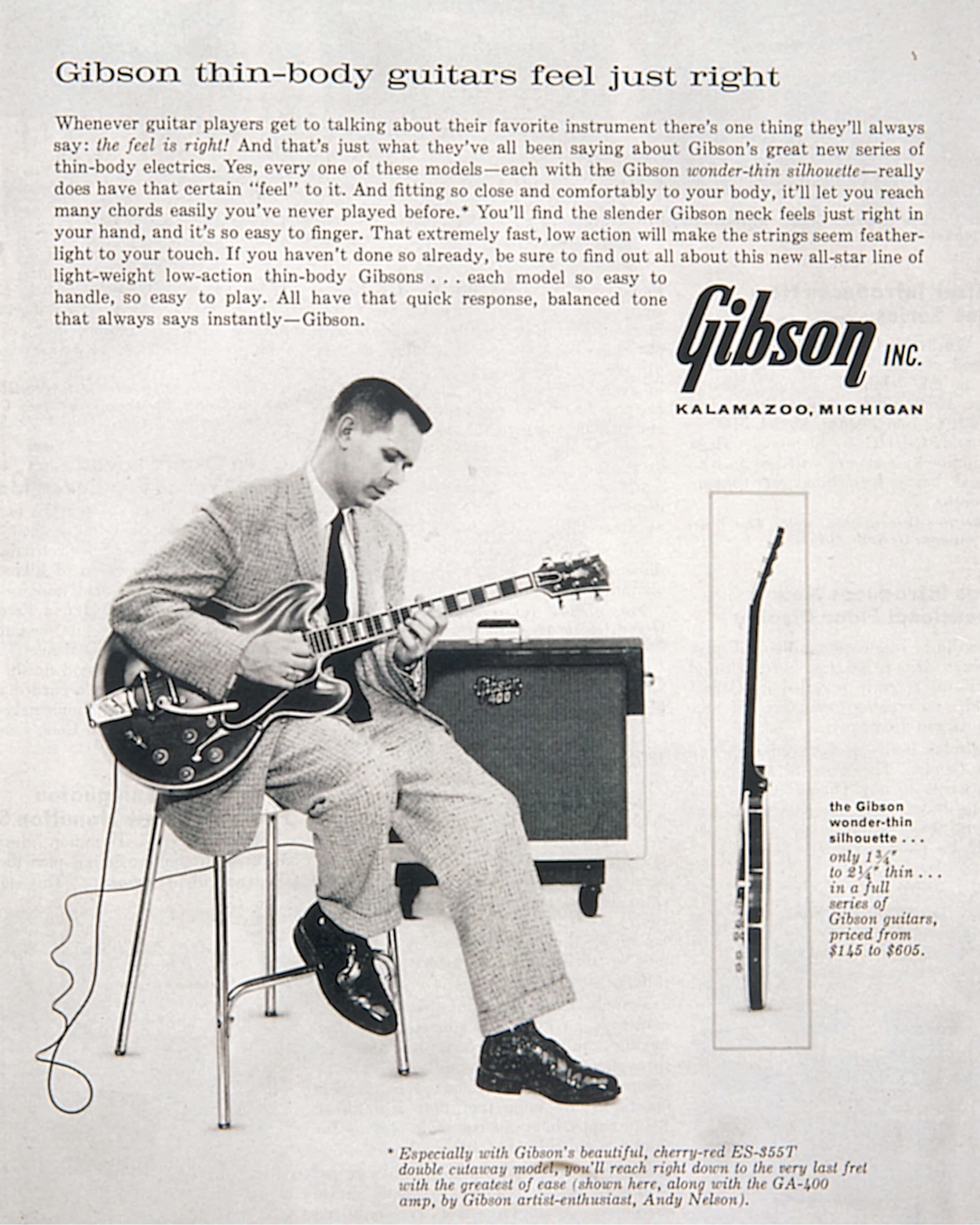 Gibson Thinline Advertisement