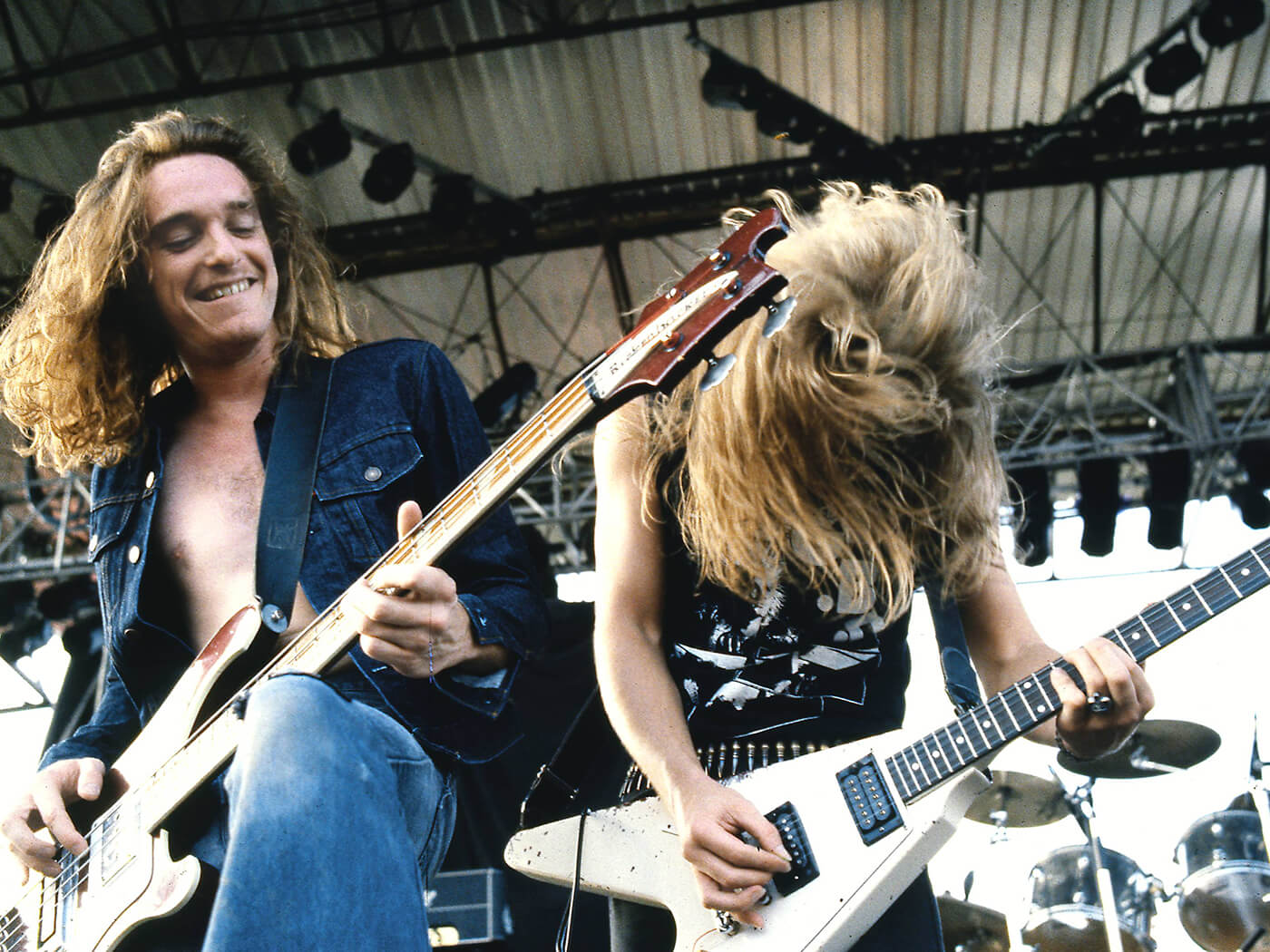 James Hetfield and Cliff Burton