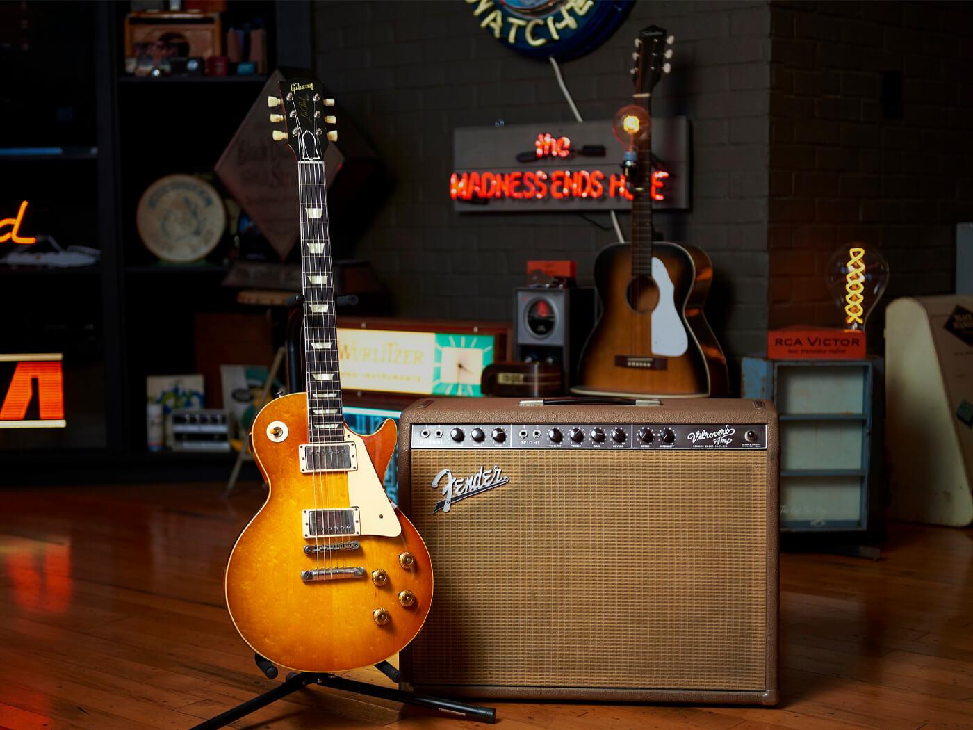Joe Bonamassa's 59 Gibson Les Paul and 63' Fender Vibroverb