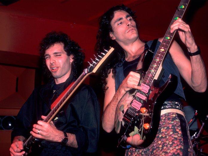 Steve Vai and Joe Satriani onstage