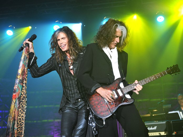 Aerosmith onstage