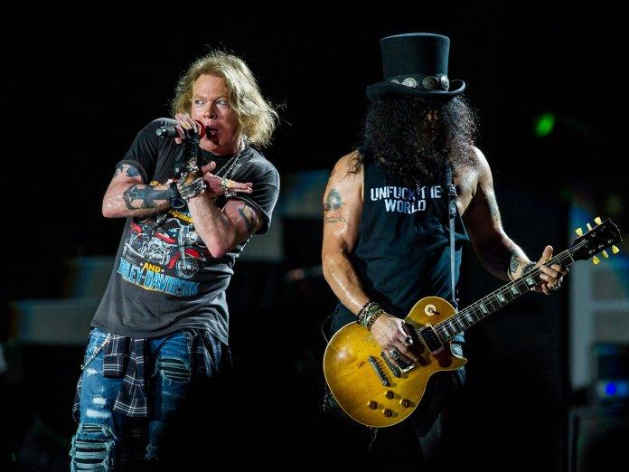 Guns N Roses onstage