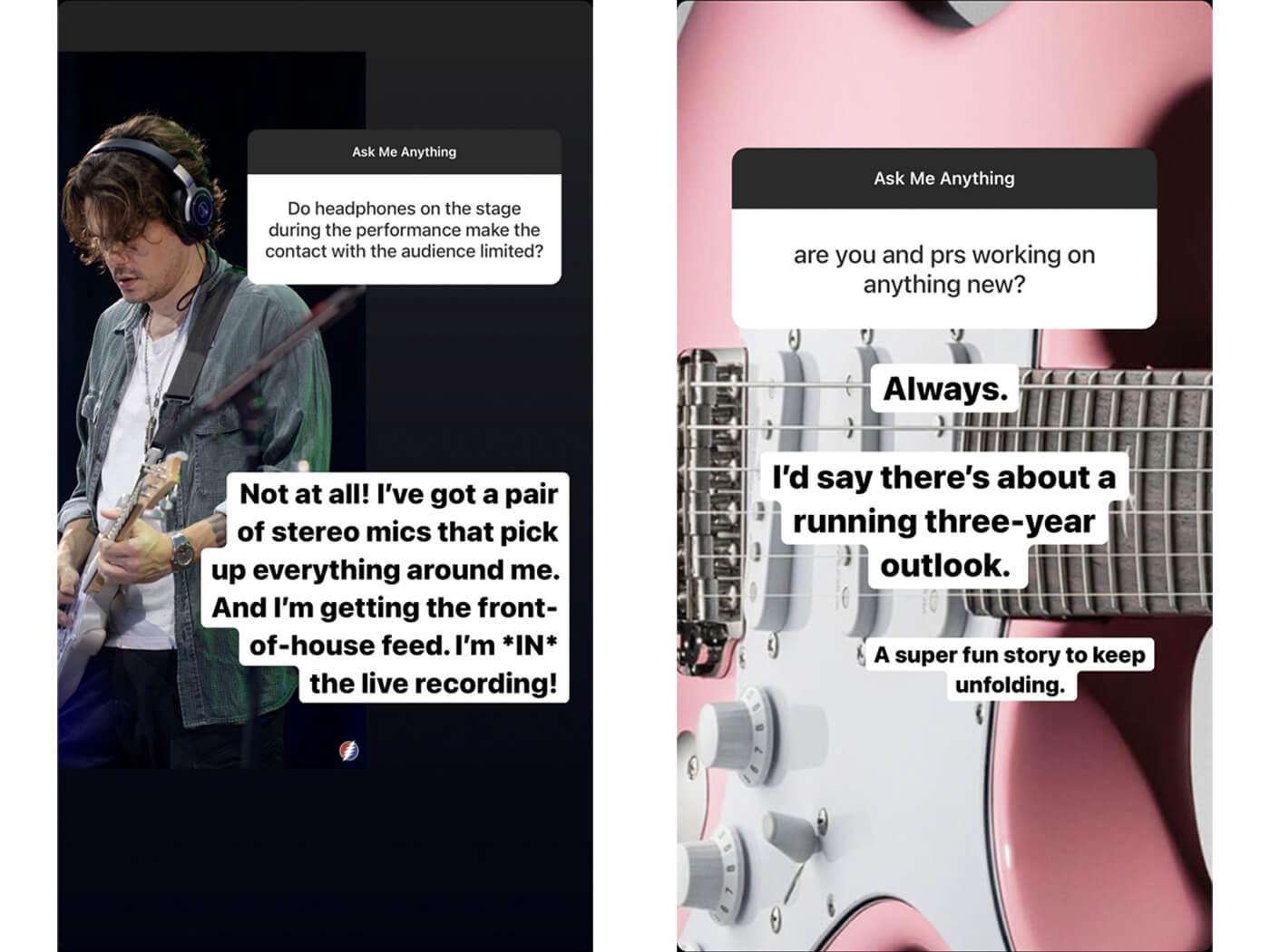 John Mayer IG Stories