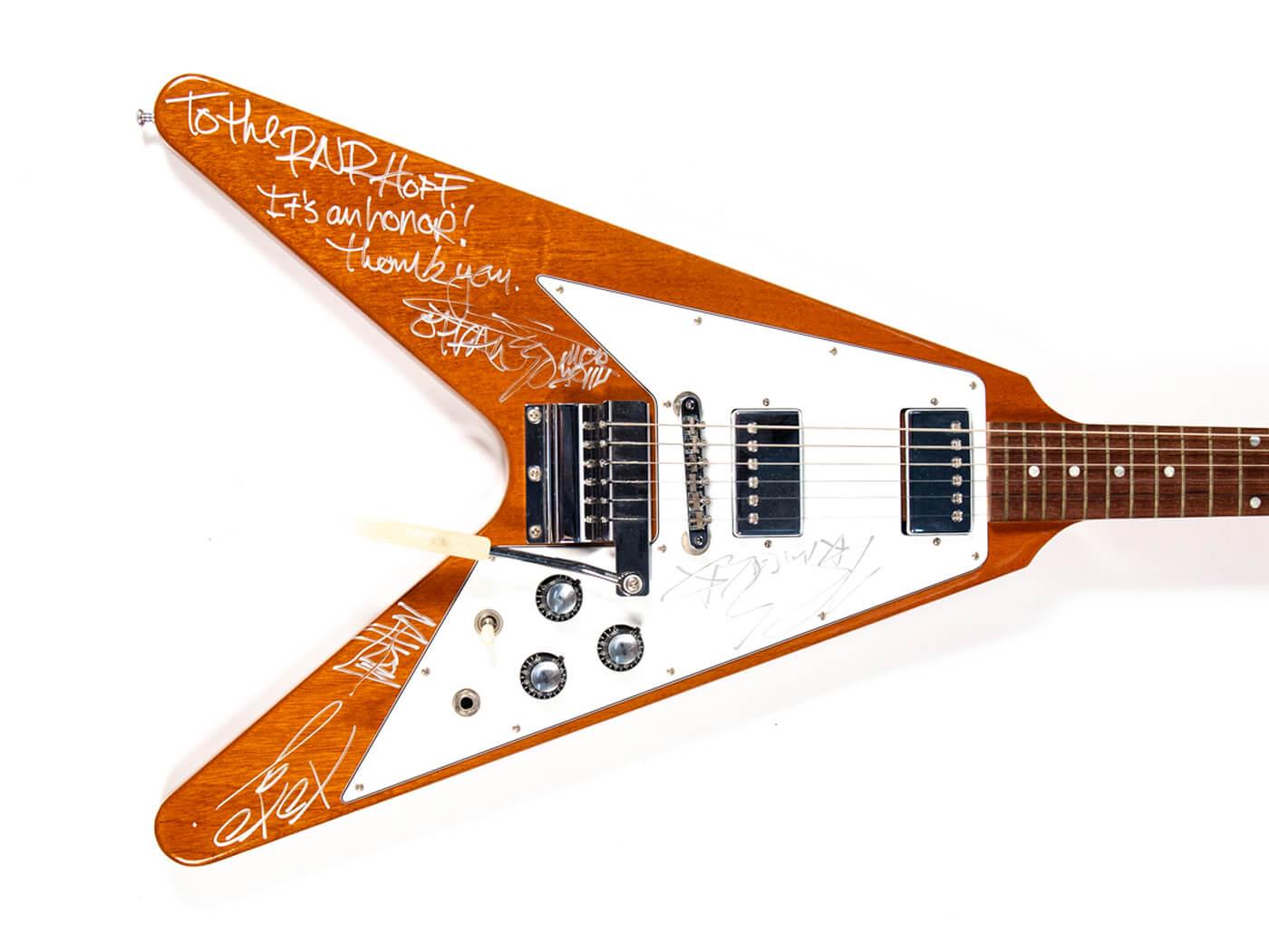 Rock Hall Flying V signed MCR