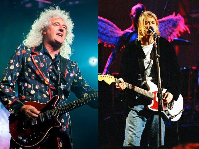 Brian May and Kurt Cobain