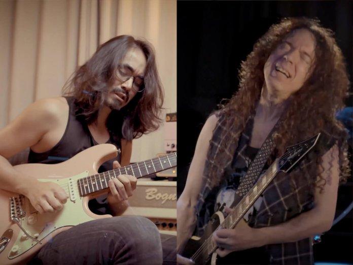 Mateus Asato and Marty Friedman