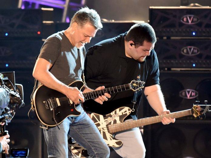 Wolfgang and Eddie Van Halen