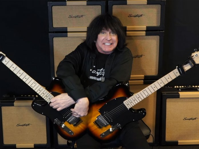 Michael Angelo Batio with his Double-Guitar