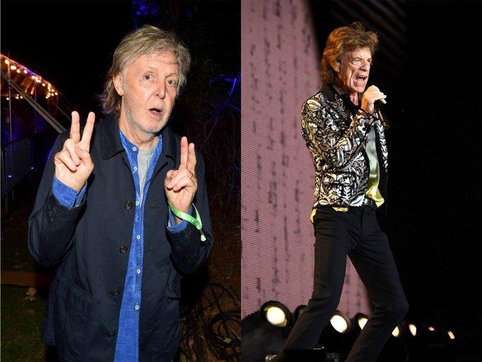 Paul McCartney, Mick Jagger
