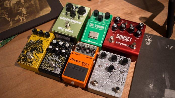 Walrus Audio, Smallsound/Bigsound, Boss, Ibanez TS808, Strymon Sunset, Way Huge Overdrive pedals